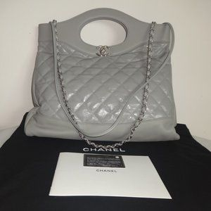 Chanel 31 Quilted Large Shopping Tote Satchel Bag